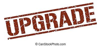 upgrade brown grunge square vintage rubber stamp