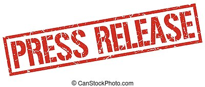 press release red grunge square vintage rubber stamp