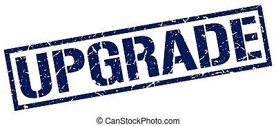 upgrade blue grunge square vintage rubber stamp