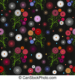 Seamless floral grey pattern