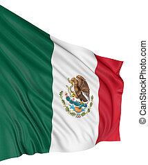 3D Mexican flag