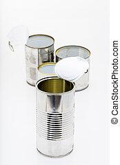 I am a tin can and I'll be useful - group of tin can or jars...