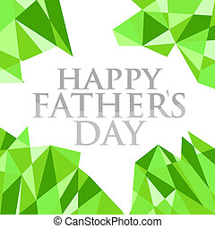 happy fathers day abstract green background