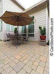 Garden Backyard Patio with Furniture - Garden Backyard with...