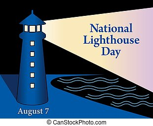 lNational Lighthouse Day, Night