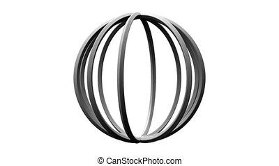 White Circle Abstract On White Background Loop able 3DCG...