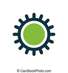 design Sun icon green