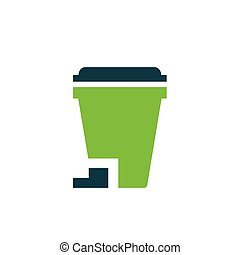 design bin icon  green