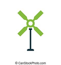 wind turbine icon green