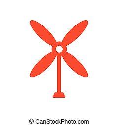 design wind turbine icon orange