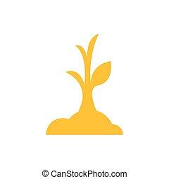 sapling icon yellow