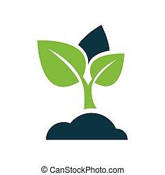 sapling icon vector