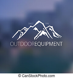 Mountain hand drawn logo - Mountain hand hrawn hogo. Vector...
