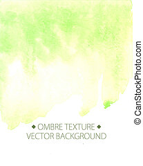 . Watercolor painted light green background with white space...