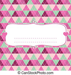 Baby shower card for girl, pink pas