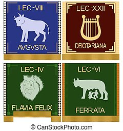 Symbols of the Roman legionaries - The character set of the...