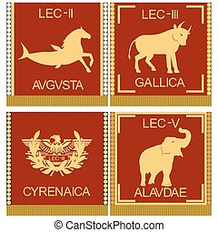 Symbols of the Roman legionaries-2 - The character set of...