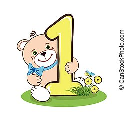 one number and jolly bear