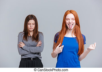 Two funny and depressed young women