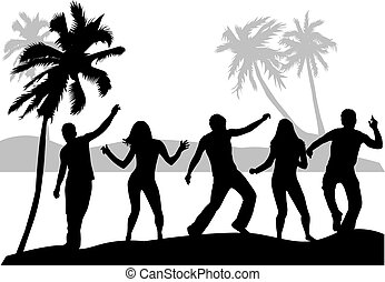 Clip Art Vector of beach party - beach party csp20739468 - Search ...