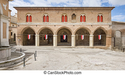 building in Fabriano Italy Marche - An image of a building...
