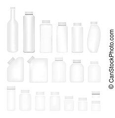 Blank Set of Plastic Packaging Bott