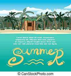 Summer vacation concept background with space for text. Sea...