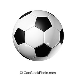 Soccer football ball - 3D soccer ball isolated on white with...