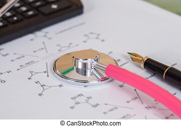 health and medical concept with stethoscope