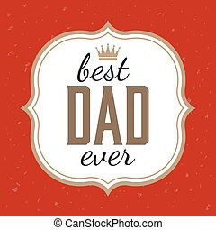 Father's day illustration vector