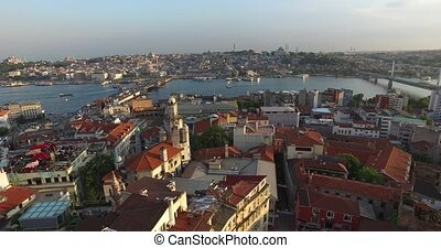 Istanbul panorama from Galata Tower - ISTANBUL, TURKEY - 4...