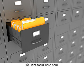 archive - 3d illustration of archive folders