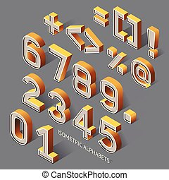 Isometric Alphabets Vector Illustration