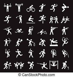 Set of sport icons Vector illustration