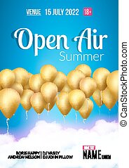 Open Air Festival Party Poster design. Flyer or poster...