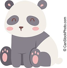 Panda bear vector illustration - Panda bear illustration...