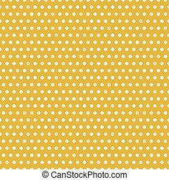 Gold seamless pattern with white dots, vector illustration....