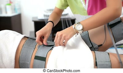 Beautiful Woman at Beauty Salon - Beautiful woman getting...