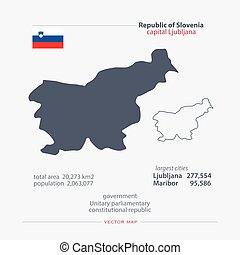 slovenia - Republic of Slovenia isolated maps and official...