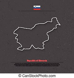 slovenia outline - Republic of Slovenia isolated map and...