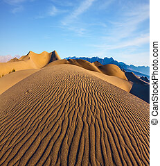 Magnificent morning in Death Valley - Magnificent sandy...