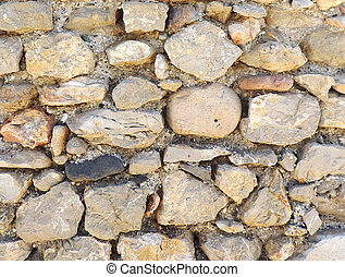 stonewall - Old stonewall, close up
