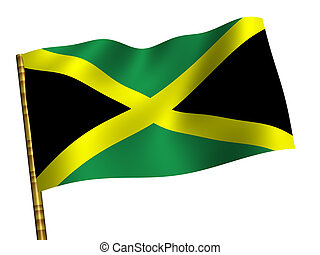 Jamaica - National Flag. Jamaica
