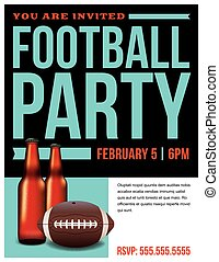 American Football Party Flyer Template - A template...