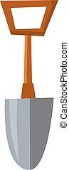 Shovel vector illustration - Silhouette of cartoon shovel...