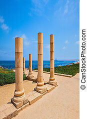 National Park Caesarea on Mediterranean coast, Israel...