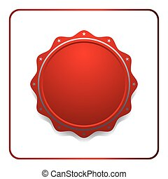 Seal award red icon