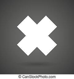 an irritating substance sign white icon on a dark background...