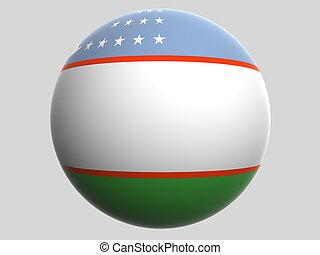 Uzbekistan - National Flag Uzbekistan