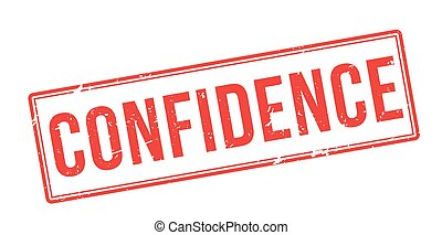 Confidence red rubber stamp on white. Print, impress,...